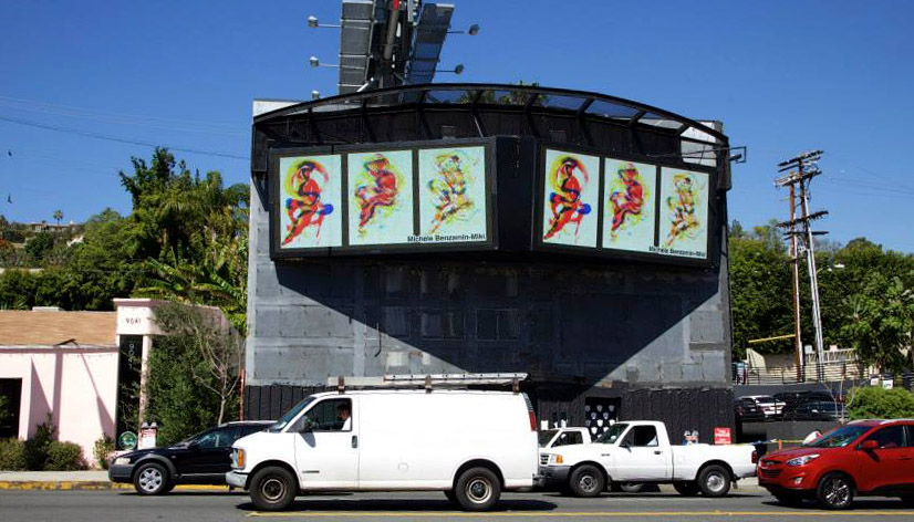 My Art Goes Electronic on Sunset Strip Billboard