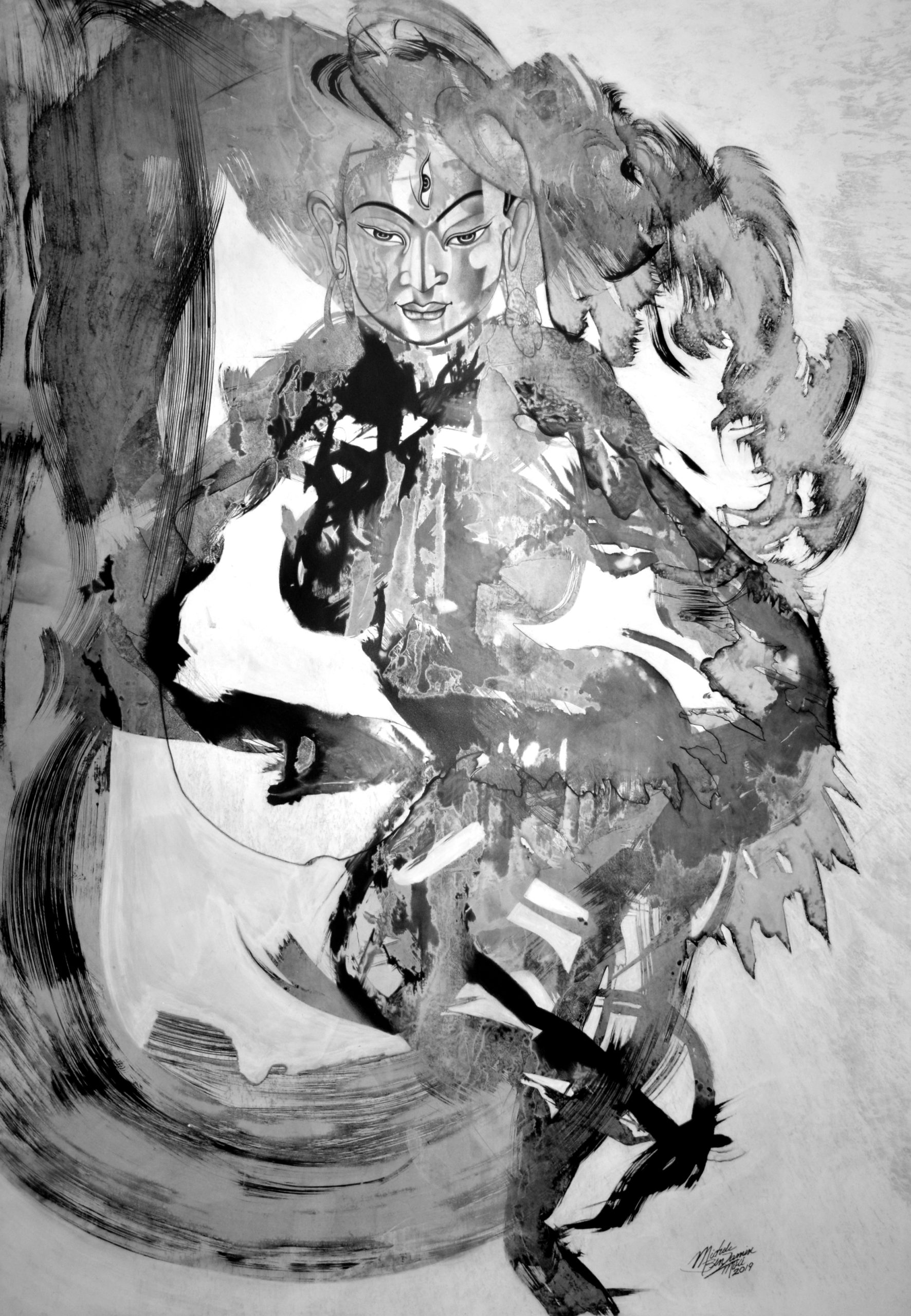 'Tara Dancing' Painting